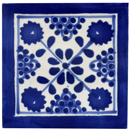 Handbemalte Fliese 10x10 Damasco Kaufen Im Mosaik Paradies