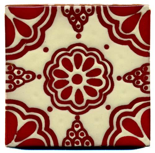 Outdoor Relief Fliese 10x10 Lace Rojo Kaufen Im Mosaik Paradies